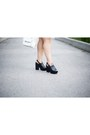 Black-topshop-shoes-white-mendocino-dress-black-h-m-hat-black-h-m-jacket