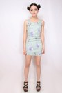 Light-blue-stretch-deep-gems-dress-black-free-people-sandals