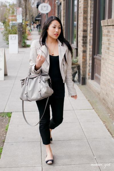 H&M jacket - Miu Miu bag - Target top - Valentino flats - J Crew pants
