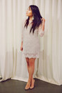 Ivory-forever-21-dress-nude-christian-louboutin-shoes-silver-kenneth-jay-lan