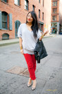 Heather-gray-plastic-island-sweater-black-givenchy-bag-red-forever-21-pants-