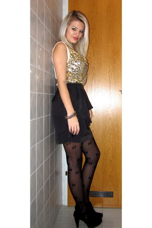 New Yorker top - Jello shoes - Tally Weijl tights - H&M skirt