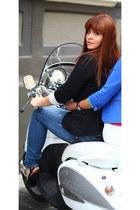 blue Motivi jeans - black Dorothy Perkins jacket - black new look heels