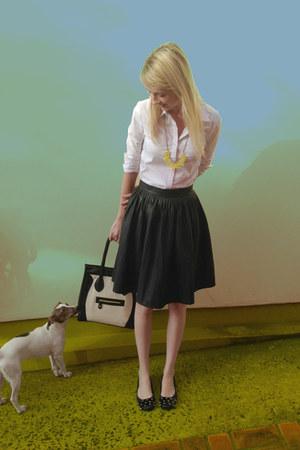 Handpicked bag - romwe necklace - Chicwish skirt - romwe blouse