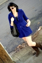 forever 21 coat - forever 21 dress - forever 21 purse - steve and berrys boots