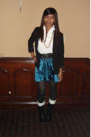 moms blouse - also moms hahah tights - Forever 21 skirt - vintage Banana Republi