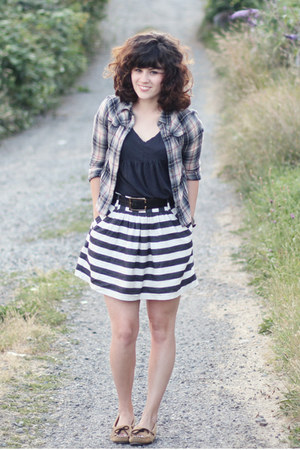 Forever 21 skirt - Minnetonka shoes - free people shirt - Scrapbook top