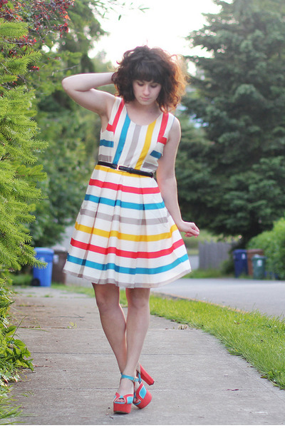 modcloth dress - modcloth heels