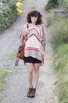 black Blowfish heels - brown Handbag Heaven bag - black DIY shorts