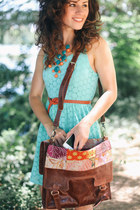 similar Francescas Collection necklace - Ruche dress - leather Bali ELF bag