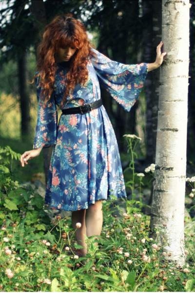 blue violet folklore dress