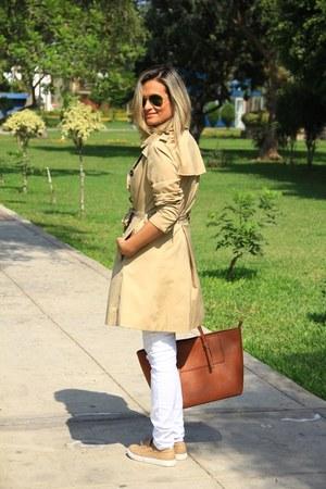 Basement coat - Zara jeans - Aldo bag