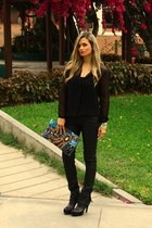 Payless boots - denimlab pants - Mirelly Reyna blouse
