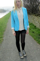 aquamarine Forever 21 blazer - cream asos shirt - black River Island shorts