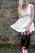 Converse sneakers - asos dress - Topshop tights