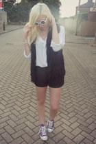 Topshop shirt - asos shorts - asos sunglasses - Topshop vest - Converse sneakers