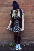 Topshop dress - Topshop hat - Topshop jacket