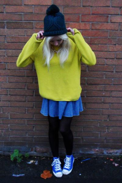 Topshop hat - Topshop jumper - Topshop skirt