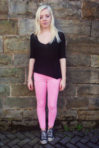 asos jeans - Zara jumper - Converse sneakers