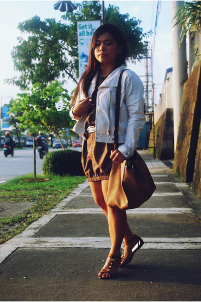 brown Plains and Prints dress