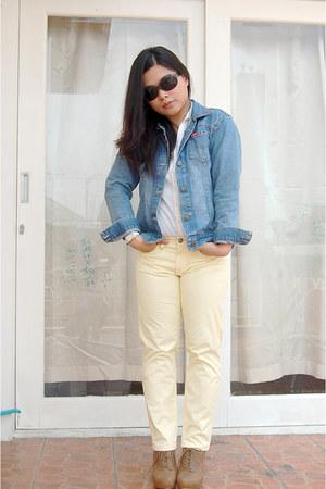 giordano pants - shoecrazeee shoes - Diesel jacket - Old Navy blouse