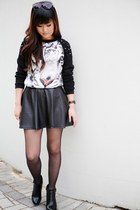 spiked tiger Choies sweater - Tobi boots - Mango sunglasses