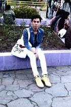 unknown brand jeans - League shoes - unknown brand shirt - MIROTA BATIK bag
