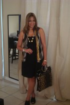 Old Navy dress - vintage scarf - christian dior bag - LV ring - Tiffani accessor