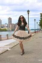 Forever 21 skirt - Zara dress - Mango sunglasses - black leather H&M belt