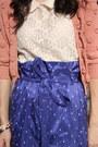 Pink-diane-cardigan-blue-diane-von-furstenberg-skirt-floral-lace-koton-top