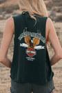 9e054bb67 Vintage Cutoff Denim Shorts Shorts, Harley Davidson DIY Muscle Tee ...