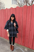 brown Kelsi Dagger boots - ivory MinkPink sweater - light brown Aldo bag - dark