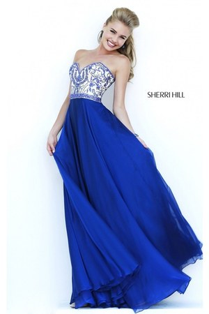 navy Sherri Hill 1947 dress - teal Sherri Hill 1947 dress