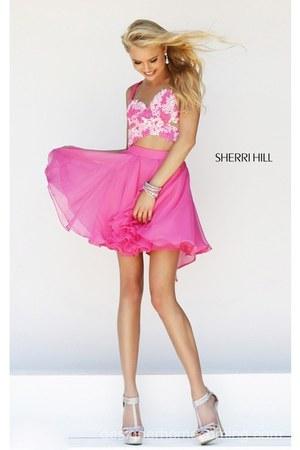hot pink Sherri Hill 11065 dress