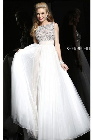 white Sherri Hill 11022 dress