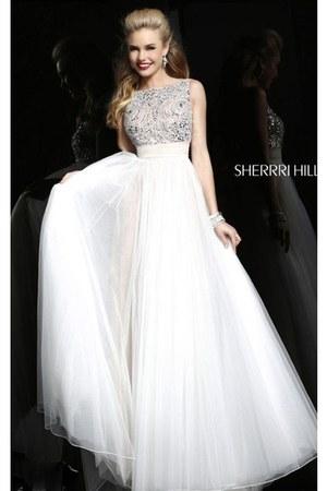 white Sherri Hill 11022 dress