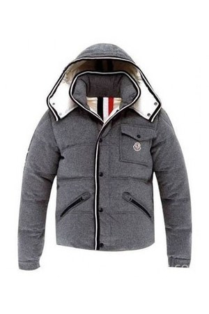 charcoal gray Moncler jacket