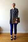 Navy-topshop-shirt-tan-leather-clutch-marc-by-marc-jacobs-bag