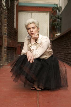black layered tulle alexandra grecco skirt