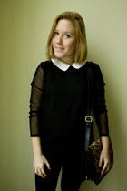 Zara blouse - H&M Trend jeans - Zara bag