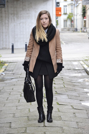 Zara blazer - unknown boots - unknown bag - Zara skirt