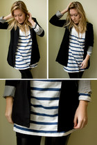 dress - leggings - blazer