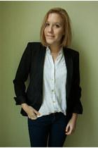 Zara blazer - H&M jeans - vintage blouse