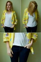 vintage blazer - H&M jeans - H&M t-shirt