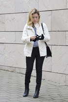 H&M coat - Zara jeans - Zara bag - new look jumper