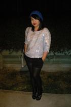 UO hat - vintage blouse - thrift purse - Urbanogcom shoes