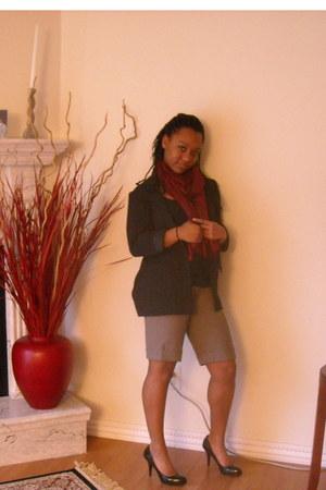 black H&M blazer - black Steve Madden heels