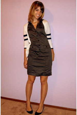 H&M dress - American Eagle cardigan - calvin klein shoes