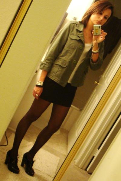 Old Navy jacket -  t-shirt - vintage skirt - Michael Kors shoes