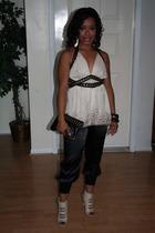 pants - blouse - blouse - purse - shoes